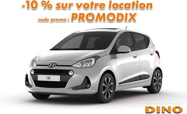 -10% sur la location de voiture